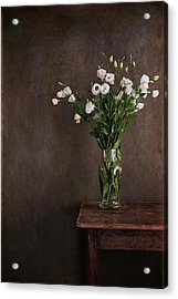 Lisianthus Flowers Acrylic Print by Paul Grand Image