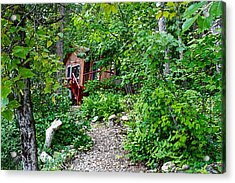 Little Cabin In The Woods Acrylic Print by Infinitimage Canada