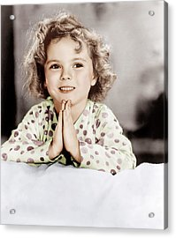 Little Miss Marker, Shirley Temple, 1934 Acrylic Print by Everett