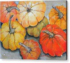 Little Pumpkins Acrylic Print by Hilda Vandergriff