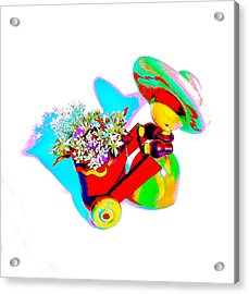 Little Red Senorita Acrylic Print by EM Michael