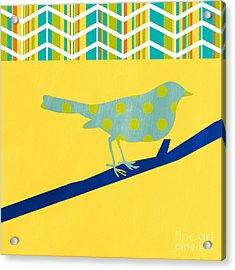 Little Song Bird Acrylic Print by Linda Woods