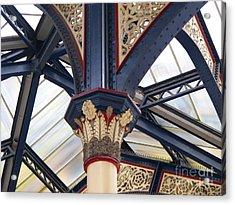 Liverpool Street Skylight Acrylic Print by Ann Horn