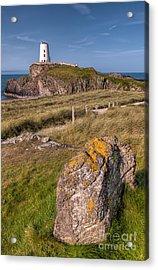 Llanddwyn Rock Acrylic Print by Adrian Evans