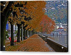 Locarno In Autumn Acrylic Print by Joana Kruse
