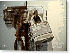 Lock And Chain Acrylic Print by Gwyn Newcombe
