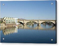 London Bridge And Reflection II Acrylic Print by Gloria & Richard Maschmeyer