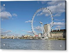 London Eye Acrylic Print by Paul Biris