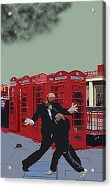 London Matrix Punching Mr Smith Acrylic Print by Jasna Buncic