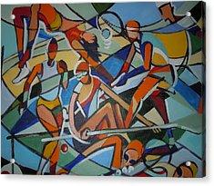 London Olympics Inspired Acrylic Print by Michael Echekoba