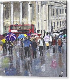 London - Summer 2012-1 Acrylic Print by Peter Edward Green