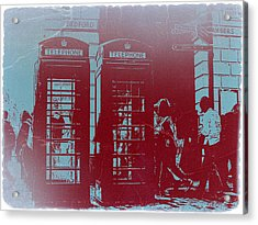 London Telephone Booth Acrylic Print by Naxart Studio