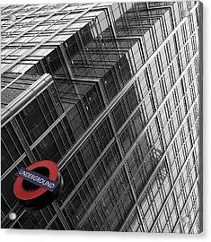 London Underground Acrylic Print by Nina Papiorek