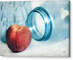 Lone Peach Acrylic Print by Darren Fisher