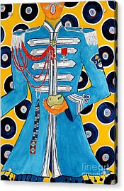 Lonely Hearts Club Member Paul Acrylic Print by Barbara Nolan