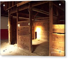 Lonely Horse Stall Acrylic Print by Greg Geraci