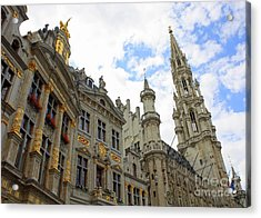 Looking Up At The Grand Place Acrylic Print by Carol Groenen
