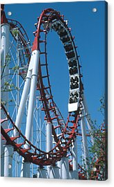 Loop Section Of A Rollercoaster Ride Acrylic Print by Kaj R. Svensson