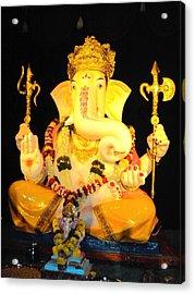 Lord Ganapati Acrylic Print by Pranav  Waghmare