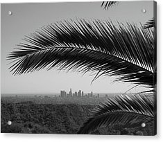 Los Angeles Skyline From Hollywood Hills Acrylic Print by Mike Shaffer