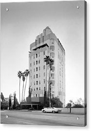 Los Angeles, Sunset Tower Apartments Acrylic Print by Everett