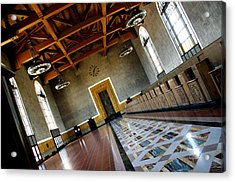 Los Angeles Union Station Terminal Acrylic Print by Jeff Lowe