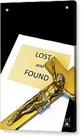 Lost And Found Acrylic Print by John Van Decker