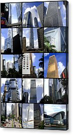 Buildings Acrylic Print featuring the photograph Lost In Hong Kong by Roberto Alamino