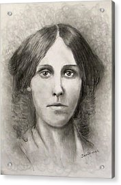 Louisa May Alcott Acrylic Print by Jack Skinner
