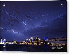 Louisville Storm - D001917b Acrylic Print by Daniel Dempster