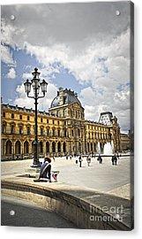 Louvre Museum Acrylic Print by Elena Elisseeva