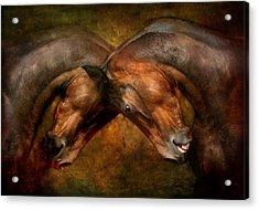 Love And Hate Acrylic Print by Dorota Kudyba