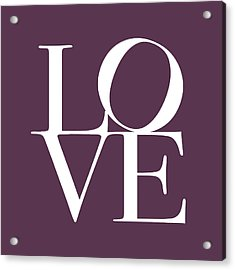 Love In Mullbery Plum Acrylic Print by Michael Tompsett