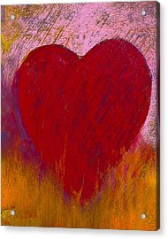 Love On Fire Acrylic Print by David Patterson