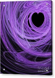 Love Swirls . A120423.689 Acrylic Print by Wingsdomain Art and Photography