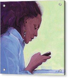 Love Text Acrylic Print by Neil McBride
