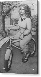 Lovely Little Plump Lady Acrylic Print by Louis Gleason
