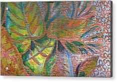 Loving Leaves  Acrylic Print by Anne-Elizabeth Whiteway