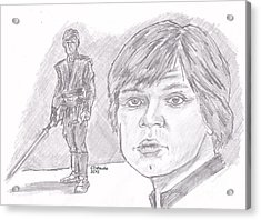 Luke Skywalker Episode Vi Acrylic Print by Chris  DelVecchio