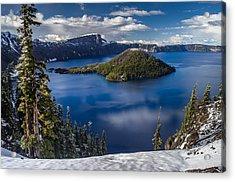 Luminous Crater Lake Acrylic Print by Greg Nyquist