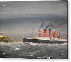 Lusitania Off The Old Head Acrylic Print by James McGuinness
