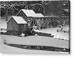 Mabry Mill In Black And White Acrylic Print by Joe Elliott