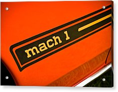 Mach 1 Acrylic Print by Phil 'motography' Clark