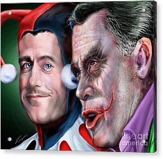 Mad Men Series  4 Of 6 - Romney And Ryan Acrylic Print by Reggie Duffie