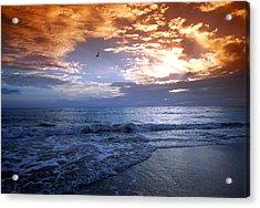Madeira Fire Sky Acrylic Print by David Yunker