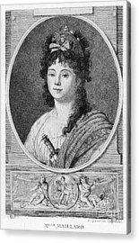 Mademoiselle Maillard Acrylic Print by Granger
