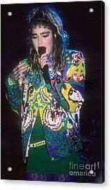 Madonna 1985 Acrylic Print by David Plastik