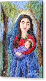 Madonna And Child Acrylic Print by Nicole Besack