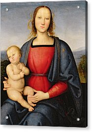 Madonna And Child Acrylic Print by Pietro Perugino