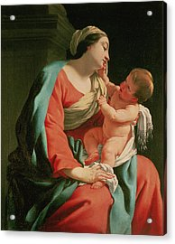 Madonna And Child Acrylic Print by Simon Vouet